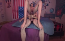 3D blowjob with an increment of stick journey