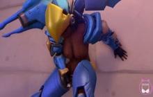 Pharah non-native Overwatch stroking