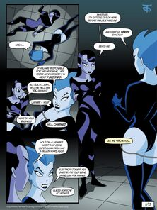 Inque increased by Livewire (Batman Beyond)