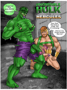 The Awesome Hulk vs. Hercules by Joey St. John