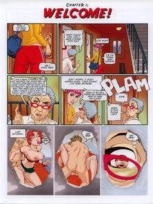 Anime Comix-Muscle man fucks lady
