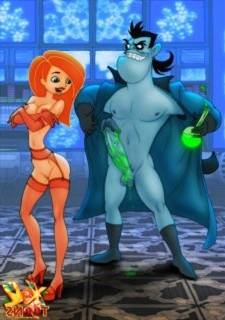XL Toons Dr. Drakken and Kim Possible