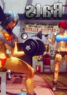 Gym Rats - Shassai,  big muscular girl