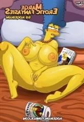 Marge's Erotic Fantasies hard by Kogeikun-Simpsons