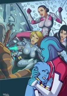 Store Effect In Lesbian Orgy (Miranda and Shepard)